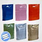 50 x STRONG/ HIGH QUALITY PLASTIC PUNCH HANDLE CARRIER BAGS 15