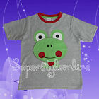 Boys T Shirt Cute Froggy Kids Short Sleeve Top Ex Store Marks & Spencers 2-7 Y