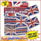 Union Jack Sandwich Flags in Packets of 30