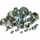 "UNF Full Nuts - BZP - 1/4"" 5/16"" 3/8"" 7/16"" 1/2"" 5/8"" 3/4"""
