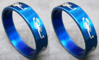 R062S charm men scorpion stainless steel cool blue ring you pick size New