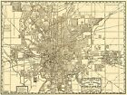 INDIANAPOLIS INDIANA IN CITY MAP BY DESSECKER/SANDSTROM 1899