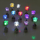 2pcs Led Stainless Shiny Fashion Earrings Stud Light Party Glowing Crystal