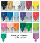 PLASTIC RECTANGLE TABLECLOTH - Birthday Party Decorations Supplies Tableware