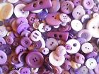 Lilac Buttons Available in Bags of 50g, 100g, 300g, 500g or 1KG Assorted Sizes