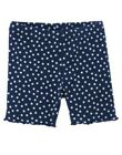 GYMBOREE BLOOMING NAUTICAL NAVY & WHITE DOT BIKE SHORTS 3 18 24 2T 3T 4T 5T NWT