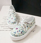 FASHION LADIES FLAT CREEPERS GOTH PUNK LACE UP WOMENS CHUNKY HIGH PLATFORM SHOES