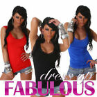 NEW SEXY WOMEN'S TOP SIZE 6-8-10 SHIRT SINGLET HOT CASUAL EVENING CLUBBING WEAR