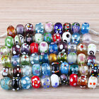 Lots Mixed Murano Lampwork Glass European Beads Findings Fit Charms Bracelet
