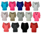 NEW LADIES PLUS SIZE SHORT SLEEVE BATWING JERSEY TUNIC SLOUCH TOP SIZE 16-26