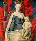 "Poster / Leinwandbild ""Virgin and Child Surrounded by Angels"" - Jean Fouquet"