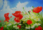 """Needlepoint canvas """"Poppies in fields"""""""