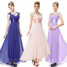 Royal Blue V-neck Evening Dresses Party Bridesmaids Dress Prom Gown Size 6 8 10