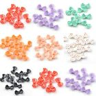 20pcs Multi-Color  Resin Flatback Beads Bow Tie charms findings 15*8 mm