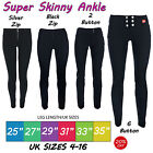 Girls Black Grey School Trousers Ladies Miss Chief Super Skinny Sizes 4-16
