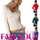 NEW SEXY WOMEN'S KNITTED JUMPER LONG SLEEVED TOP SWEATER HOT FASHION FOR LADIES