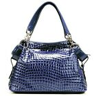 Crocodile Print  Real Genuine Cow Leather Women Tote Shoulder Celebrity Bag NEW