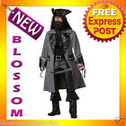 C146 Mens Black Beard Blackbeard the Pirate Captain Hook Fancy Adult Costume
