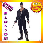 C768 Blackheart the Pirate Swashbuckler Buccaneer Fancy Dress Mens Adult Costume