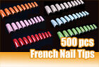 500pcs Packed Acrylic Professional Nail Art Artificial False French Half Tips