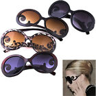 HOT Women Semi Transparent Round Retro-inspired Butterfly Arms Clouds Sunglasses