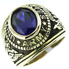 Army Amethyst Purple Stone Military 18kt Gold Plated Ring