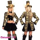 Ladies Mad Hatter Alice In Wonderland Fancy Dress Party Costume