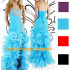 Designer Sweetheart Beading Sexy Mermaid Organza High Low Prom Dresses NWT
