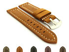 Men's Genuine Leather Replacement Watch Strap Band SS. Buckle 22 24 26 Panor MM