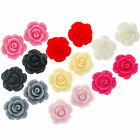 15 x Small Flat Back Rose Cabochon Flowers 10mm Card Making Scrapbook Jewellery