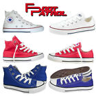 New Girls Boys Unisex Kids All Star Chuck Taylor Converse Hi Lo Shoes Size Uk