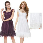 Ever Pretty Ladies Sexy White Short Lace Cocktail Casual Summer Dresses 02713