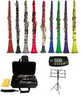 New Clarinet,Case,MouthPiece,11 Reeds,Cap,Screwdriver,Cloth,Gloves,Tuner,Stand