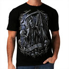 We Meet Again New Mens Women T-Shirt Gothic Skull Death Evil Clown Scary *h105