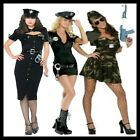 WOMEN'S POLICE COP FANCY DRESS COSTUME INC POLICE HAT & ACCESSORIES SIZE 6-14