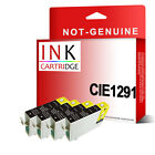 4 BLACK INK CARTRIDGES FOR T0711 T0611 T1281 T1291 T0801 T0551 -not original