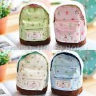 Cute Mini Backpack Coin Bag Floral Flower Canvas Card Key Purse Wallet Xmas Gift