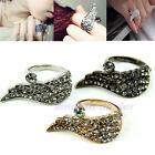 1pc Korean Stylish Lovely Retro Vintage Sweet Rhinestone Angel Wing Ring Rings