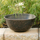 LG Fall Harvest Autumn Primitive Wood Bowl Distressed  Black or Sage Decorative