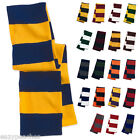 BULK LOT 38 PIECES MIX/MATCH Rugby Stripe Knit SPORT CHEER FOOTBALL Scarf