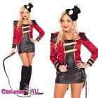 Ring Mistress Circus Showgirl Fancy Dress Halloween Ladies Costume Outfit
