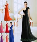 2014 Chiffon Long Christmas Prom Dresses Evening Party Gown Bridesmaids Size6-26