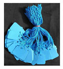 Coloured Kraft Strung String Tags Swing Price Tickets Jewellery Tie On Labels