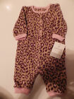 NWT~Carters Infant Girls 1 Pece Outfit, Tan, Brown and Pink
