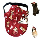 Dog Hat XS S M L XL Red Dog Print-Adjustable Puppy Pet Cap Visor Sun Protection