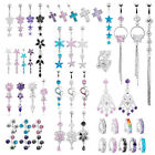 14G Rhinestone long dangle Belly Button Ring body Piercings 15 styles choose