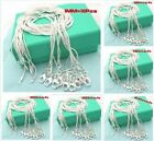 Wholesale 10pcs 1mm 925 Sterling Silver classic&fashion chain Necklace+gift box