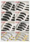 10 Pairs 8 Models Natural Thick Handmade False Eyelashes Eye lash Transparent