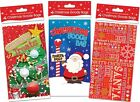 Pack Of 4 Christmas Goodie Gift Bags 23cm x 13cm Approx - Assorted Designs