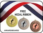 FENCING MEDAL 50mm METAL GOLD SILVER & BRONZE TROPHY FREE RIBBON FREE P&P M18